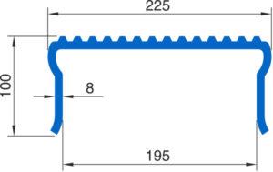 Шапочная балка Монблан МР 195-К - схема
