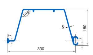 Шпунт ПВХ Монблан МР 330-6-1 - схема