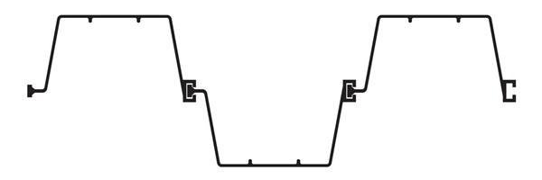Шпунт ПВХ Монблан МР 330-6-1 (вариант монтажа 1) - схема