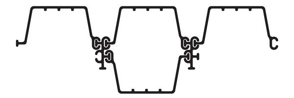 Шпунт ПВХ Монблан МР 330-6-1 (вариант монтажа - Замкнутый контур)