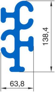 Угловой соединитель Монблан МР 10-У - схема