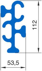 Угловой соединитель Монблан МР 7-У - схема